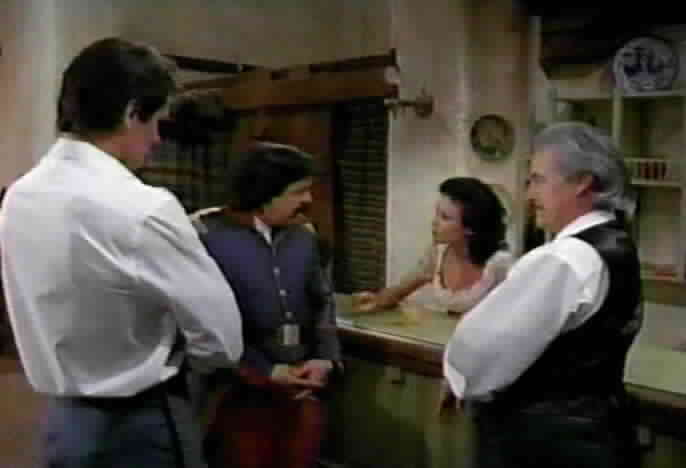 Victoria, Diego, and Don Alejandro talk to Sgt. Mendoza about his plans for his money.