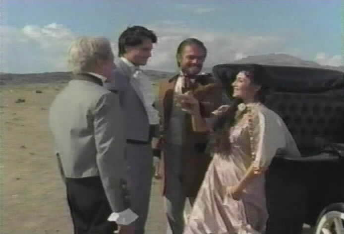 Don Alejandro and Diego meet Rafael de la Vega's fiancée, Margarita.