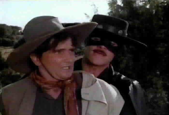 Zorro captures Enrique Vargas.
