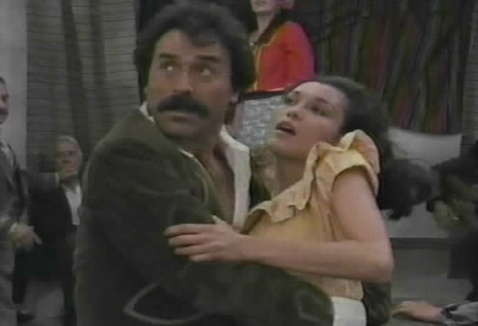 Zorro interrupts as Gomez tries to kiss Victoria.