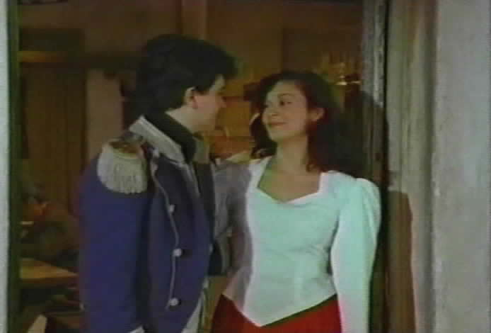 Victoria greets her brother Francisco.