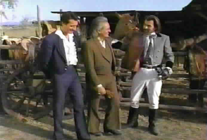 Don Diego and Don Alejandro bid farewell to Don Emilio Alonzo.