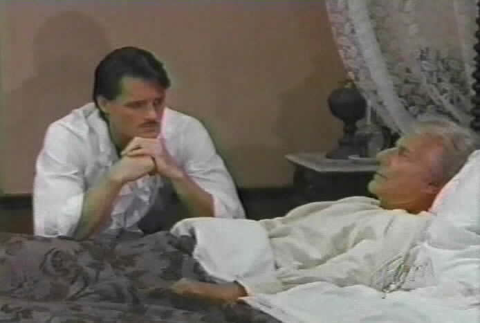 Diego worries about his father's condition.