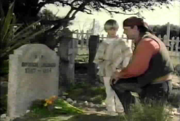 Jarrett shows Pepe his mother's grave.