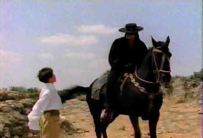 Carlos de la Paz arrogantly informs Zorro that he does not need Zorro's help.