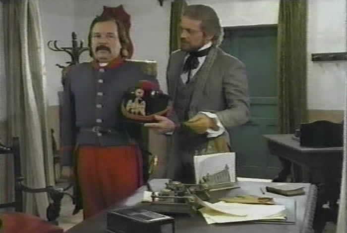 Alcalde Ramone gives Sgt. Mendoza a task.