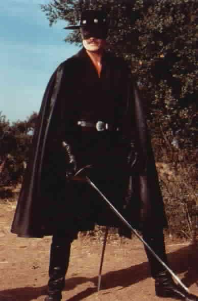 Zorro holding sword
