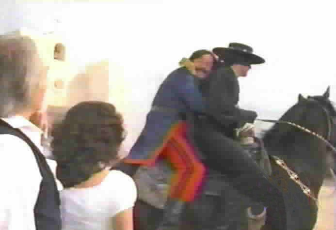 Rush to Judgement - Zorro rescues Sgt. Mendoza.