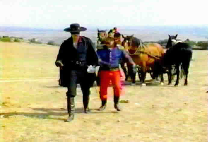 Sgt. Mendoza helps Zorro eliminate the source of the poisoned water.