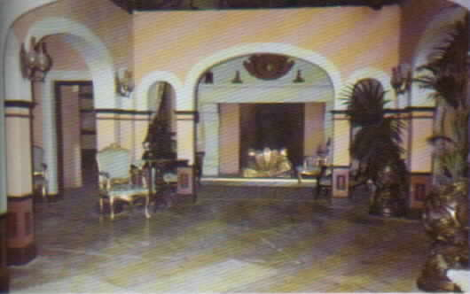 View of the set for the de la Vega hacienda