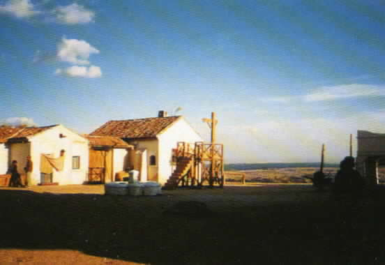 Exterior view of the pueblo set