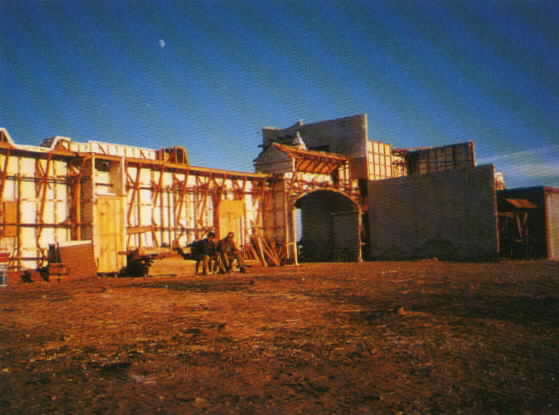Another exterior view of the pueblo set