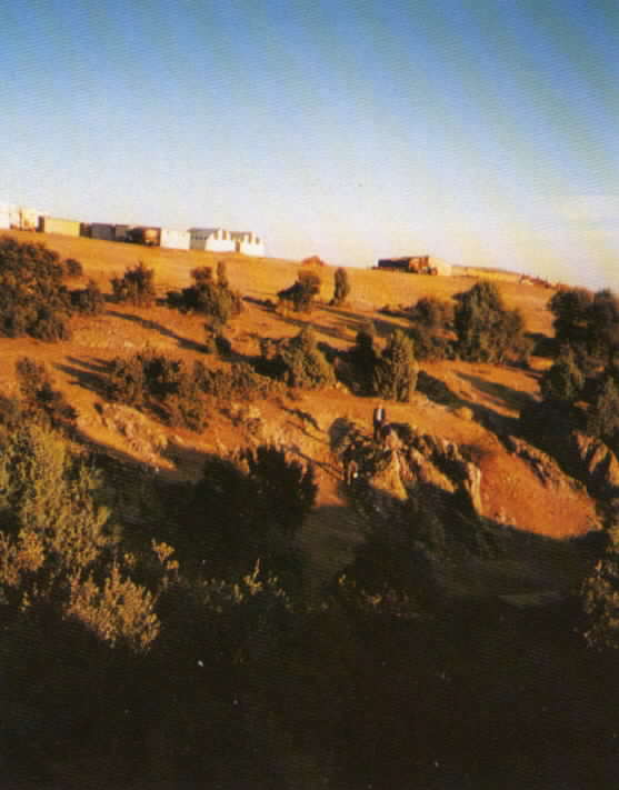 View of the countryside surrounding the set