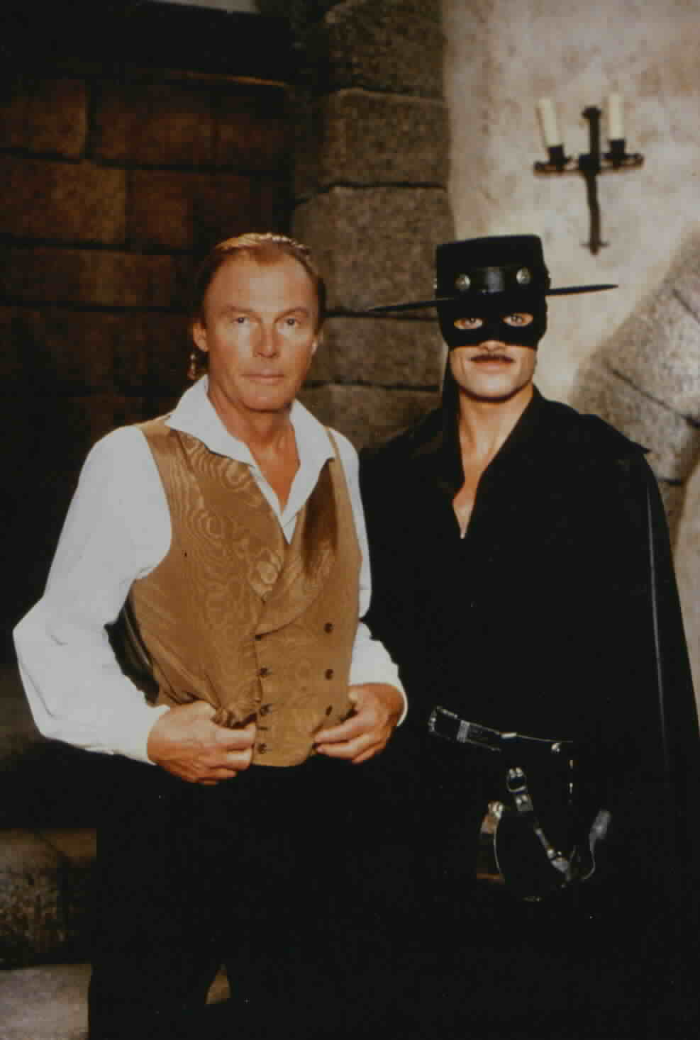 Adam West with Zorro